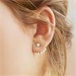 Ear Jackets Zirkonia Perlen 925er Silber