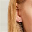 Ohrstecker für Damen aus 925er Silber, rosé mit Perlen
