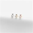 Damen Ohrstecker aus 925er Silber, rosé mit Perlen