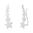 Stern Ohrklemmen für Damen aus 925er Silber