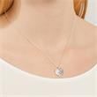 925 Silberkette mit Herzanhänger