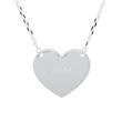 Gravur Kette mit Herz und Infinity aus 925er Silber