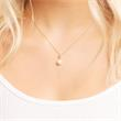 Anhänger 925 Silber vergoldet ovale Perle