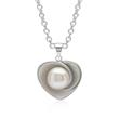 Herz-Anhänger Perle 925er Silber rhodiniert