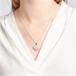 925er Silberkette Zirkonia mit Herzanhänger