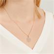 Kette 925er Silber rosévergoldet mit Diamant gravierbar