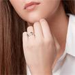 Verschlungener Silberring rhodiniert Zirkonia