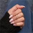 Filigraner X-Ring roségold 925er Silber