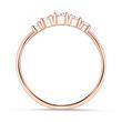 Ring aus rosévergoldetem Sterlingsilber mit Zirkonia