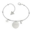 Edelstahl Armband Peony Art Münze für Damen