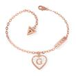 Bracelet Heart For Ladies In Stainless Steel, Rose Gold Plated