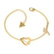 Stainless Steel Heart Bracelet Amors Arrow For Ladies, Gold
