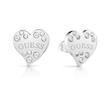 Heart earrings made of stainless steel with Swarovski crystals