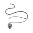 Necklace Hero Lion for men made of black stainless steel