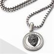 Necklace Lion Head For Men In Stainless Steel Gold Plated