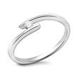 14K Verlobungsring mit echtem Diamanten 0,05 ct.