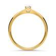 Diamant Verlobungsring 585er Gelbgold 0,10 ct.