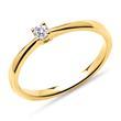 Verlobungsring aus 750er Gold mit Diamant, lab-grown