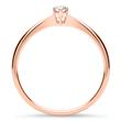 750er Roségold Ring mit lab-grown Diamant