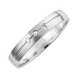 Wedding Rings White Gold With Brilliant Width 3.5 mm
