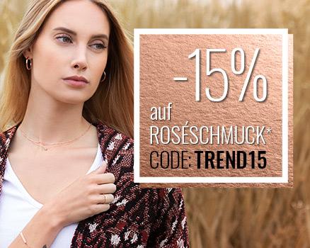 Jetzt 15% auf Roséschmuck sparen