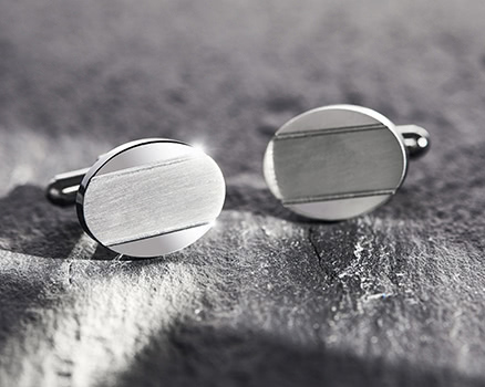 Cufflinks<br>made of stainless steel