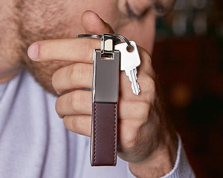 Schlüsselanhänger<br>aus Edelstahl
